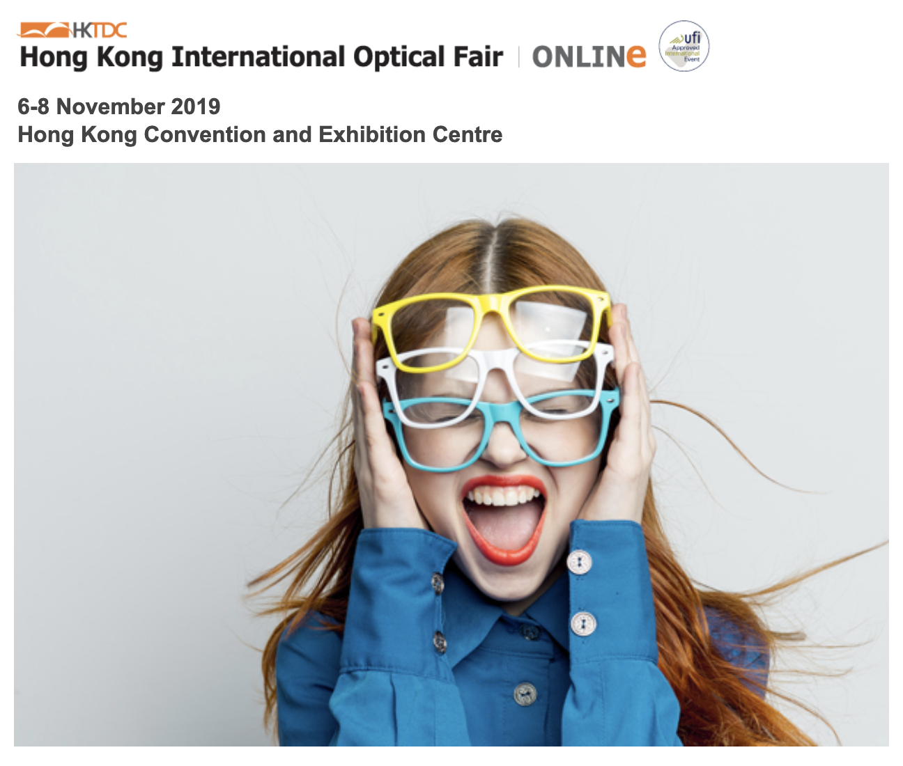 HKOF 2019 – Hong Kong Optical Fair 6-8 November 2019